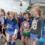 Presentation N.S., Millstreet - Winners of the Duhallow Camogie Final on Wednesday, 13th June 2012 - on their victory parade through Millstreet Town.  (S.R.)