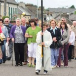 Millstreet Corpus Christi Procession on Sunday, 17th June 2012 as it progressed up Main Street to the specially constructed outdoor altar in the Square.   Sincere thanks to photographer supreme, John Tarrant