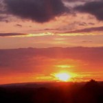 Sunset as viewed from Mount Leader, Clara Road, Millstreet on 4th July 2012.