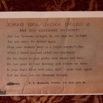 Historic 1927 ticket with words of song