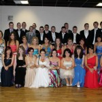 A group photograph of many of those about to leave for their Debs in