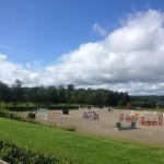2012-08-07 The main arena at Green Glens this morning - all ready for the International Horse Show this week