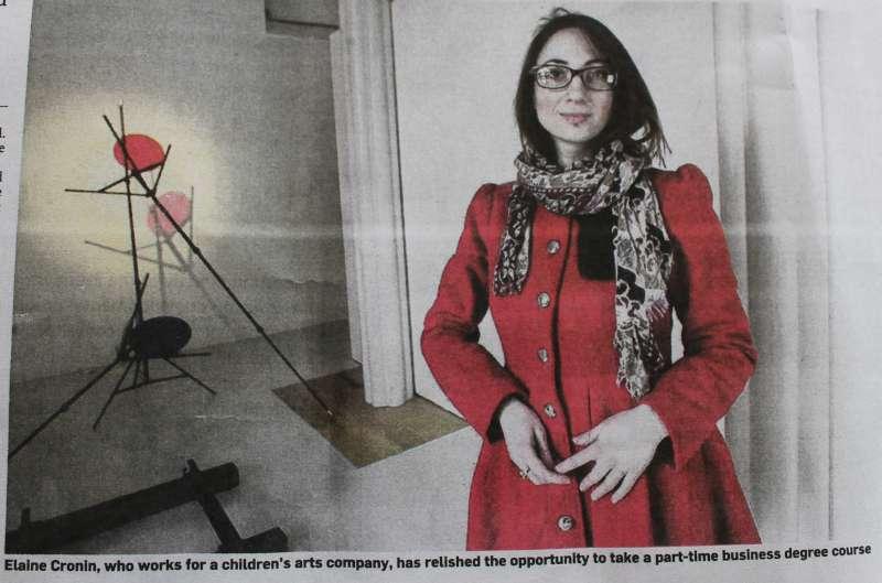 """Elaine Cronin in """"Irish Times"""" on 11/03/ 2012"""