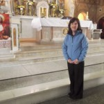 Julie Brady, newly appointed Sacristan at St. Patrick