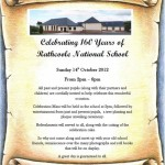 2012-10-14 Rathcoole National School 160th Year Celebrations - poster