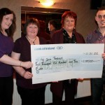 Ciara, Bina, Pat and Kevin at cheque presentation in Wallis Arms Hotel on 1st Nov. 2012