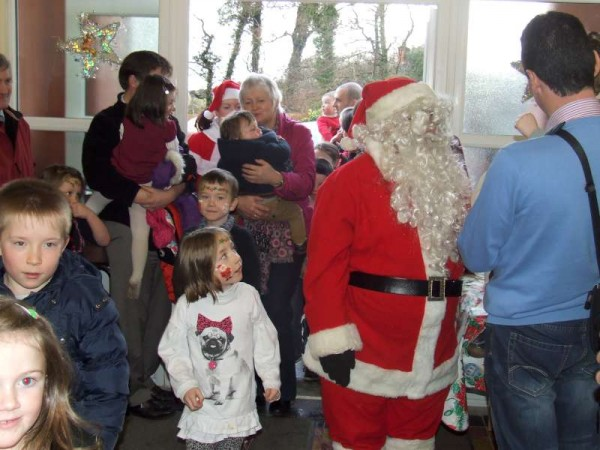 2012-12-16 Santa Arives in Aubane Community Centre this afternoon, and was greeted by a large number of Children
