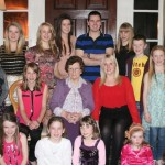 2012-12 Mary Agnes Murphy Rathduane, Rathmore, recently celebrated her 90th birthday in Springford Hall Mallow pictured here surrounded with all her grandchildren