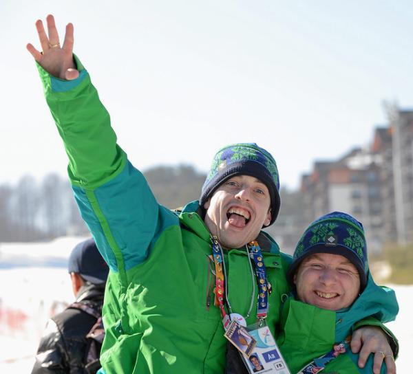 2013-01-02 Brendan O'Sullivan supporting his teammates at the Alpine Skiing (Sportsfile - Ray McManus)