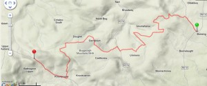 2013-01-06 Blackwater Way - Map for Mushera to Bweeing