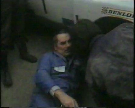 from the Millstreet Mastero documentary - Arthur O'Keeffe working under one of Bily Coleman's rally cars