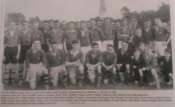 The Millstreet Team that won the Cork County Senior Football Championship in 1948