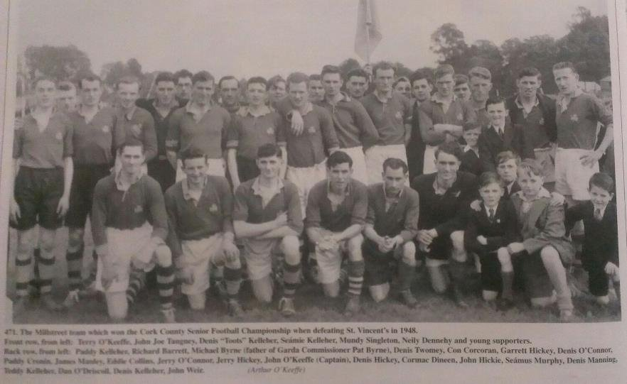 2013-01-26 Millstreet Team that won the Cork County Senior Football Championship in 1948