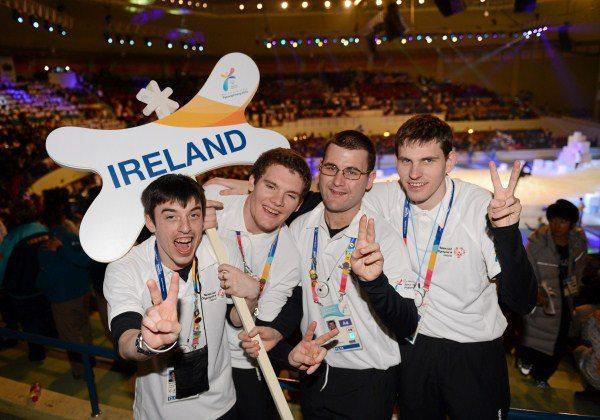 2013-01-31 The Irish Floorball Team at the Special Olympics in Korea - Brendan O'Sullivan - opening ceremony