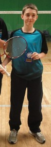2013-02-05 Thomas Howard from Dromtarriffe Badminton Club who will be travelling to Barcelona in February representing Ireland