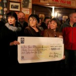 9Boeing Cheque Presentation at Malpaso Bar 2013