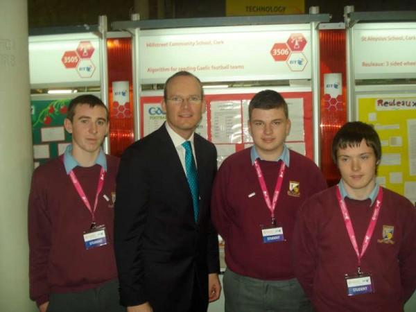 Nathan Harman, Simon Coveney (Minister for Agriculture, Food and the Marine), Darragh Hickey and Seán O'Callaghan.