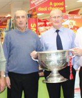 1973 Cork Footballers - Connie Hartnett and John Coleman get their hands on Sam Maguire again (Feb 2010)