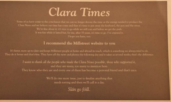 20 Clara News Milestone Feb. 2013
