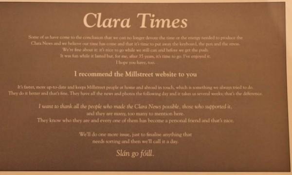 20 Clara News Milestone Feb. 2013