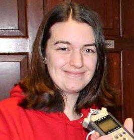 2012-12-30 Miriam O'Sullivan being interviewed before her trip to Belarus