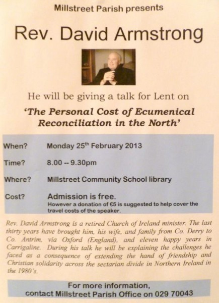 2013-02-13 Rev. David Armstrong Lenten Talk - poster