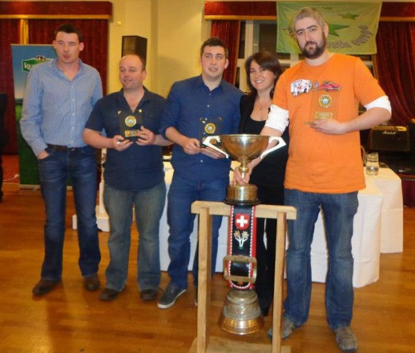 2013-02-23 The Millstreet Macra team who won the Kerrygold Club Question Time Quiz National Final at Breaffy House Hotel in Castlebar, Co. Mayo