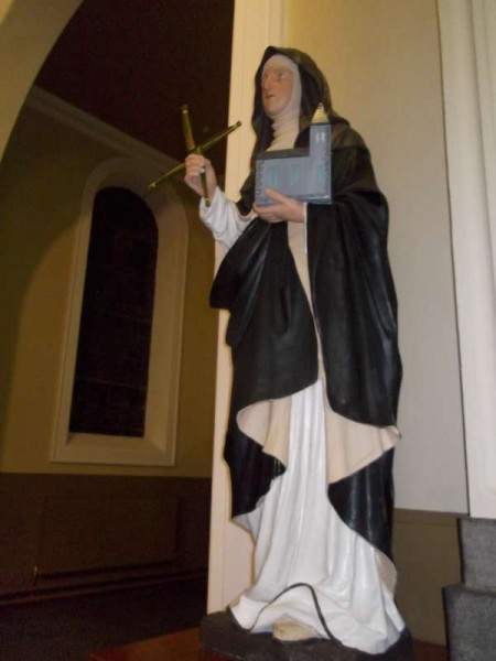 The statue of St. Brigid in
