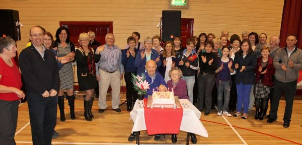 The superb Annual Dromtariffe Seniors' Party took place at Dromtariffe Community Centre on Sunday, 17th February 2013.  The two most senior special Guests were Tadhg Ó Muimhneacháin of Gurteen and Julia Dunne of Dysert who cut the magnificent cake made by Mary Buckley.   Lots more pictures later. (S.R.)