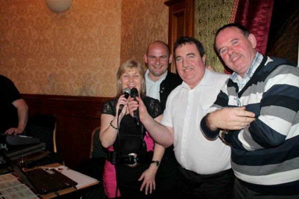 Members of the Cork Music Station Team - Connie, Mike, William and James broadcasting live from the Hodson Bay Hotel in Athlone at the highly prestigious Farmers Journal National Awards Event on Monday, 4th March 2013.   And William meets his great Friends - Rose and Big Tom McBride while I chanced to see Philomena Begley and Brendan Grace at the Intermission of the hugely enjoyable occasion.