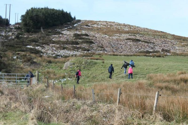 RTÉ Film Crew beginning to record Eily Buckley on Wednesday morning at Bealach and later at Kilmeedy Castle.