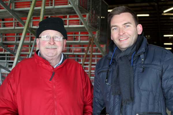Joe Roche and his son, Aidan, at today's Show in Green Glens.