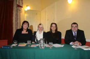 2013-03-02 Millstreet Macra debating team -  Rebecca Enright, Anneka Dunne, Katie Guerin and James Kelleher-800