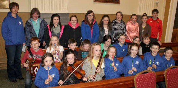 Members of Millstreet CCÉ and Students from Millstreet Community School added greatly with their