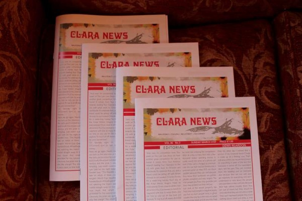 "Following over three decades of publication the final issue of ""Clara News"" is now available.    Sincere thanks to All who contributed to its great success.  (S.R.)"