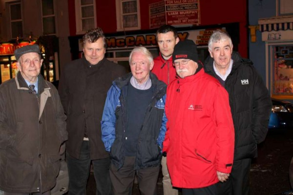 Renowned Motor Rallying Champion, Billy Coleman joined the enthusiastic attendance on Wednesday night outside the Wallis Arms Hotel for the official unveiling of the Cork 20 prestigious event which will be centred in Millstreet in October 2013.