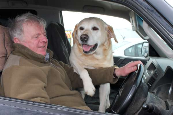Liam Casey and his loyal pet dog enjoying the Show at Green Glens.