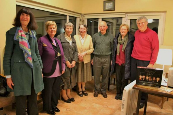 Some of the many people who attended tonight's superb Millstreet Gramophone Circle presentation by Michael Drew, Boherbue (on extreme right).  It was Michael's first presentation and it was a tremendous success enjoyed by a capacity audience including young Daniel and James from Ballinatona, Millstreet.