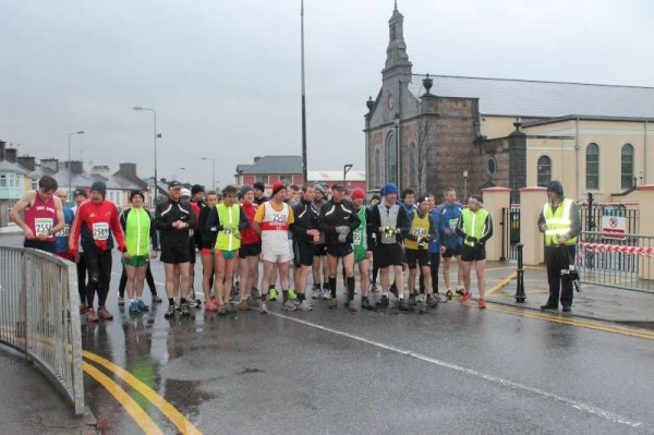 Despite the very wet and cold conditions many athletes took part in the annual Clara Mountain Run on Sunday at 7.00 pm.  Great credit is due not only to the Athletes who travelled from many parts of Munster but to the very dedicated Organisers who marshalled the race and arranged much appreciated refreshments and prize givings at Millstreet GAA Community Hall following the race.  More pictures later.  Click on image to enlarge.  (S.R.)