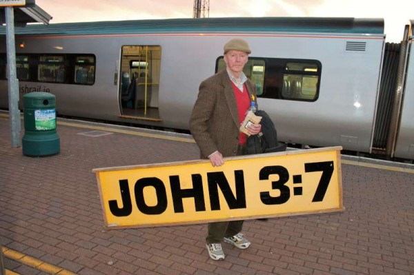 "Pictured at Limerick Junction the very well known ""John 3:7"" will feature in a brief interview at 10.00 pm on tonight's ""Radio Treasures"" on Cork Music Station 30th April 2013."