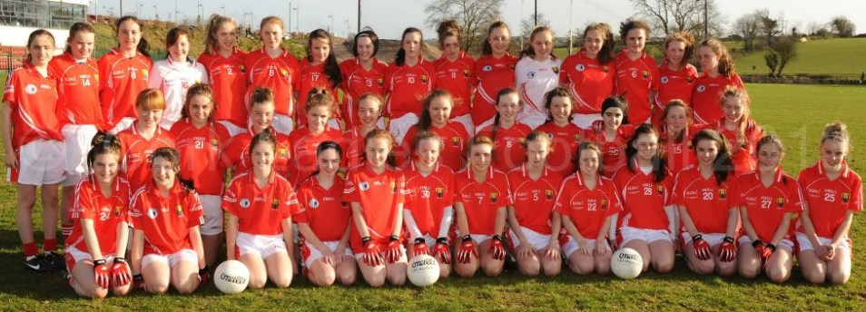 2013-04-16 Cork U14 Ladies who beat Waterford in the Munster semi-final - included is Chloe Collins