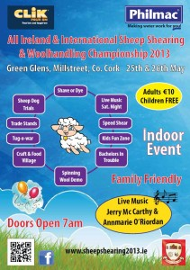 2013-05-12 All Ireland & International Sheep Shearing & Woolhandling Championship - poster