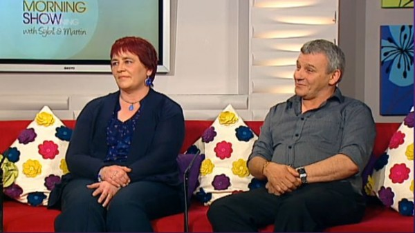 Bob and Mary Keane on the Morning Show on TV3