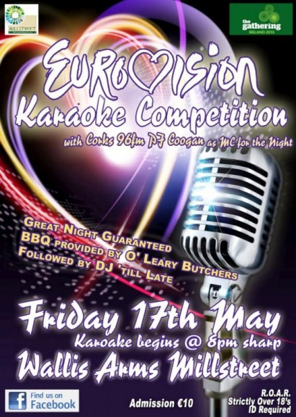 2013-05-17 Eurovision Karaoke Night in the Wallis Arms - poster