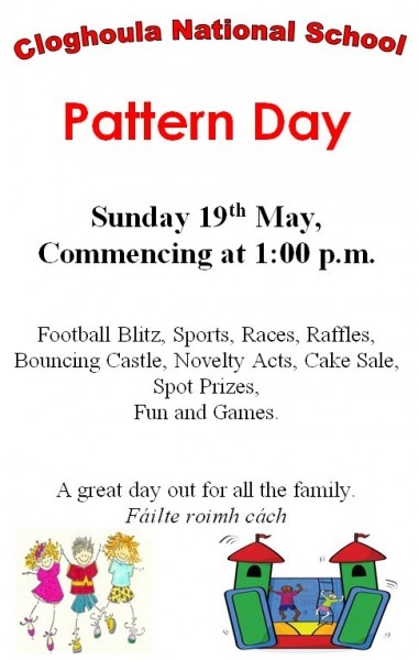 2013-05-19 Colghoula National School Pattern Day - poster