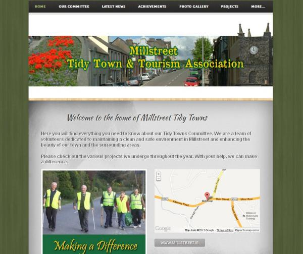 2013-05-23 Millstreet Tidy Towns new website - front page