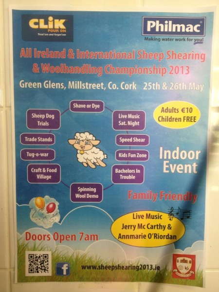 2013-05-26 All Ireland & International Sheep Shearing and Wool Handling Championships - poster