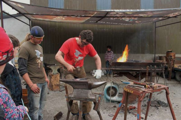 It was a truly wonderful family day for the many who attended the superbly interesting Traditional Craft & Blacksmithing Fair at MCP on Sunday, 5th May 2013.  Included here in our cover pictures on the feature is Craftsman supreme J.J. Bohan from West Cork who very kindly created the most attractive LTV2 ironcraftwork since last year's event at MCP.  (S.R.)