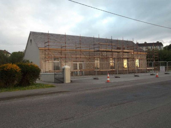 It was from this location on Drishane Road that the Millstreet Summer sunset was taken.   This building presently being renovated was in fact the setting for Millstreet Creamery for many years.  (S.R.)