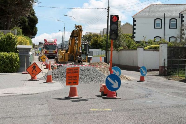 Impressive improvements  being carried out today as road works were in place at Killarney Road, Millstreet.  (S.R.)